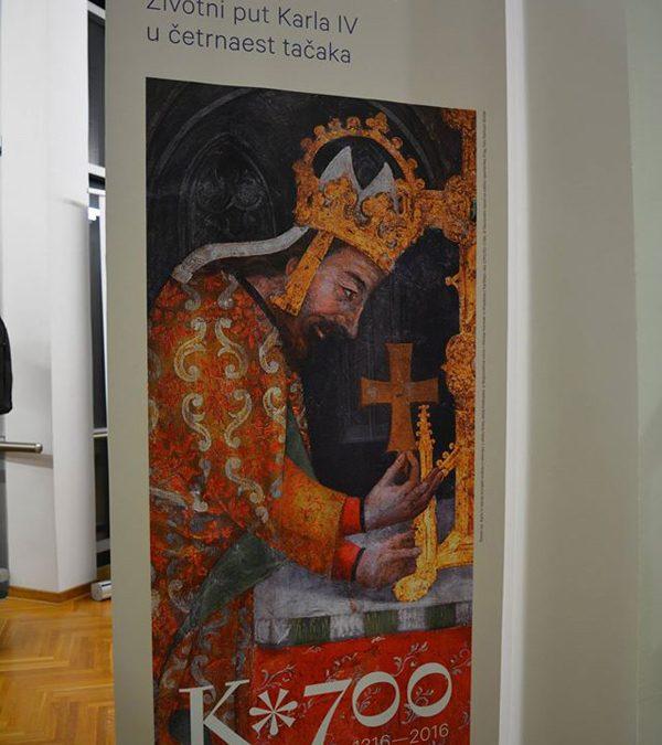 "Отворена изложба ""Цар на четири трона – Животни пут Карла IV у четрнаест тачака"""