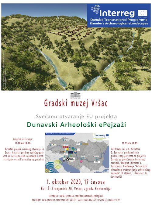 Svečano otvaranje EU projekta Dunavski Arheološki ePejzaži